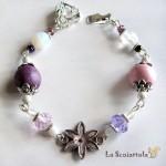 bracciale 10 rosa viola