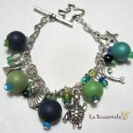 bracciale 54 verde blu
