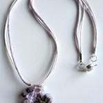collana 15B bianco viola