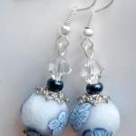 orecchini 038 blu bianco