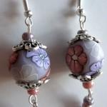 orecchini 042 viola rosa