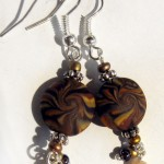 orecchini 047 marrone