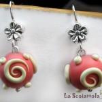 orecchini 051 rosso chiaro