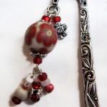 segnalibro 24 rosso e perla